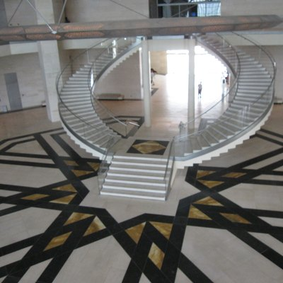 Inside stairs of the Museum of Islamic Art, Doha