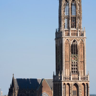 The Dom Tower in Utrecht, the Netherlands is one of the best known landmarks of this country. This gothic tower is the highest church tower (112,5 metres/368 feet) in the Netherlands and was built between 1321 and 1382 as part of the Cathedral of St. Martin. The resolution of the original photograph is 7768*4150.