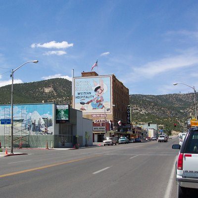 Looking west on Aultman Street (US 50) in downtown Ely, Nevada.