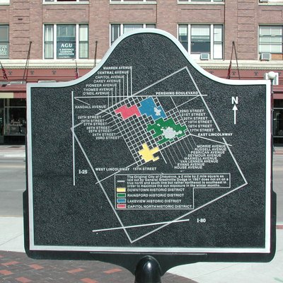 Downtown Cheyenne map