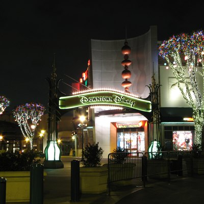 The entrance arc of Downtown Disney (California).
