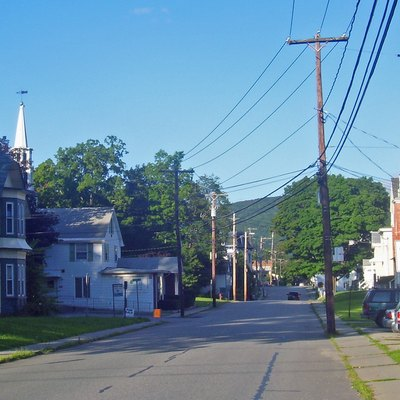 Dover Plains, Ny, Usa, Seen From ny 22 Looking East