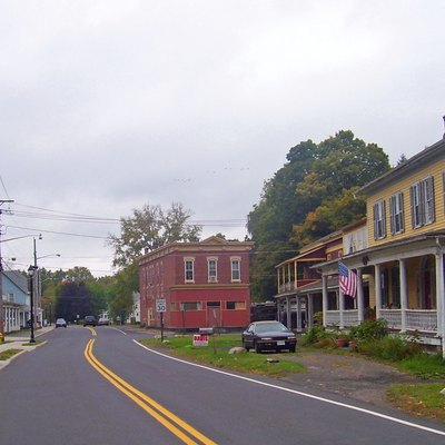Downtown, hamlet of Napanoch, NY, USA