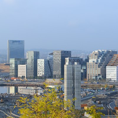 Skyline of downtown Oslo Norway