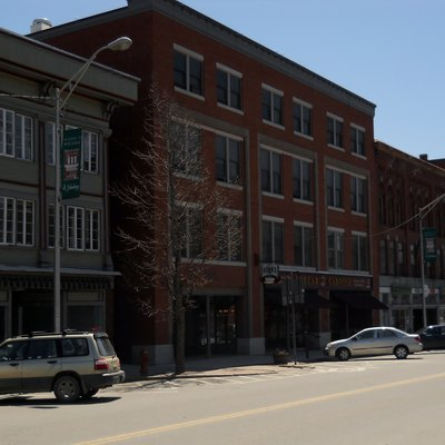 Downtown St. Johnsbury businesses on Railroad Street