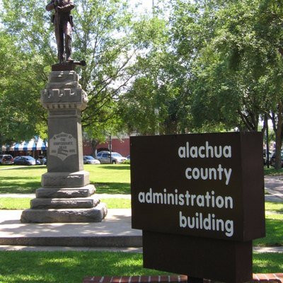 Gainesville Confederate Statue Located Next To Alachua County Administration Building