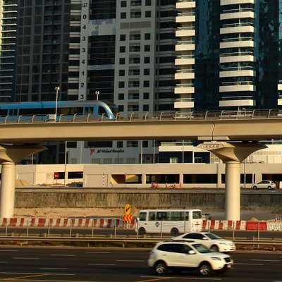 The Dubai Metro, above ground