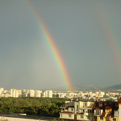 A rainbow in Sofia, Bulgaria