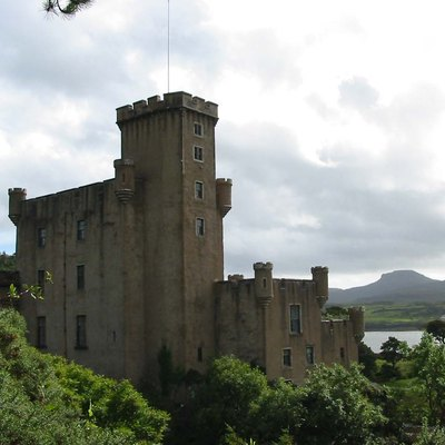 Dunvegan Castle On The Isle Of Skye, From The Gardens.