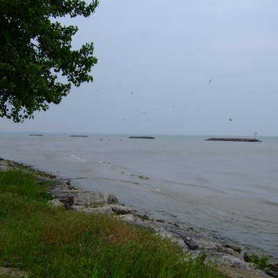 View of Lake Erie from East Harbor State Park, Ohio, USA.