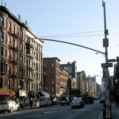 The East Village, looking south down Second Avenue from 6th Street. The majority of the building shown are located within the East Village/Lower East Side Historic District (Source: