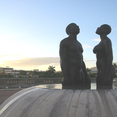 Statues in Emancipation Park, Kingston Author Gwyneth Davidson