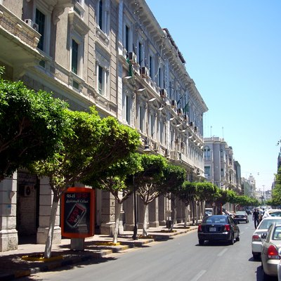 Istiqlal Street in Tripoli off Shuhada Square has some of the most decorative Italianate facades in Tripoli.