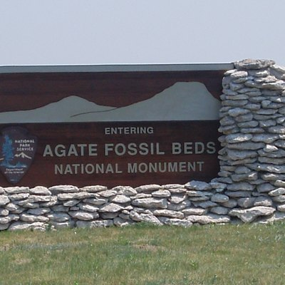 Entrance to the Agate Fossil Beds National Monument near Harrison, Nebraska