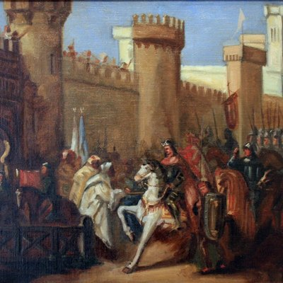 Entrance of James I of Aragon at Murcia in 1266.
