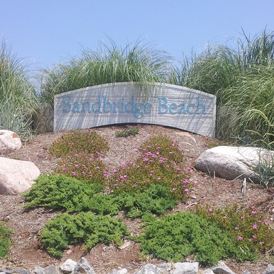 Entrance to Sandbridge Beach via Sandbridge Road