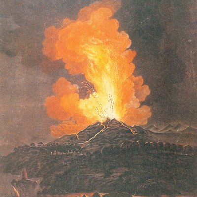 An artist's impression of 1766 eruption