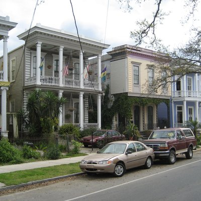 Houses on Esplanade Avenue, New Orleans include