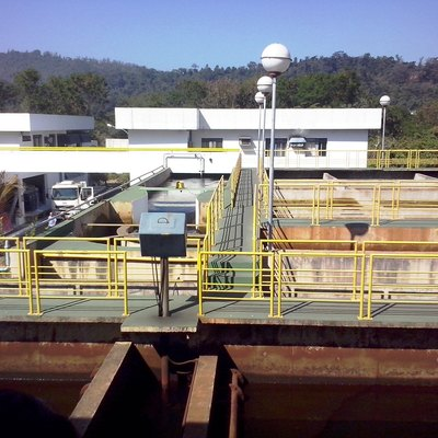 Water treatment plant of Coronel Fabriciano, Minas Gerais, Brazil.