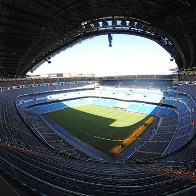 Santiago Bernabéu Stadium, Home Of The Real Madrid Football Club.
