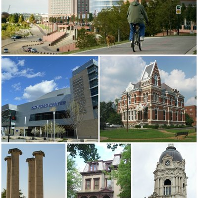 This is a collage for the Evansville, Indiana, page