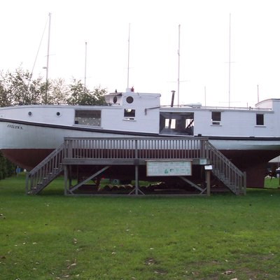 The Evelyn S., a Great Lakes fish tug at the Michigan Maritime Museum in South Haven, Michigan