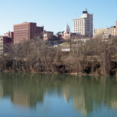 Downtown w:Fairmont, West Virginia and the w:Monongahela River