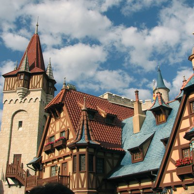 The Bavarian architecture used in Fantasyland at the Magic Kingdom in Florida.