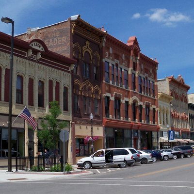 Buildings in downtown Faribault, Minnesota, USA.