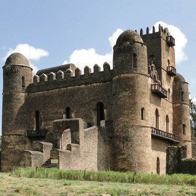 Fasilides Palace in the Fasil Ghebbi, Gondar, Ethiopia