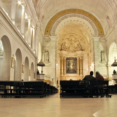 Inside the basilica of Fatima