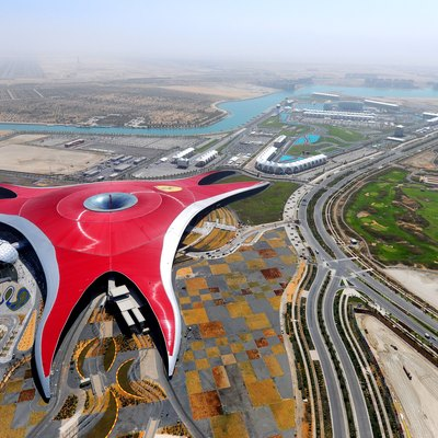 Ferrari World Is Located In Abu Dhabi.