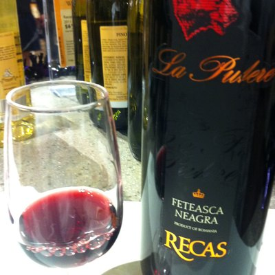 Red Romania wine from Transylvania made from the Feteasca Negra grape.