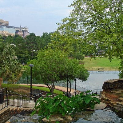 Finlay Park in downtown Columbia, South Carolina, USA