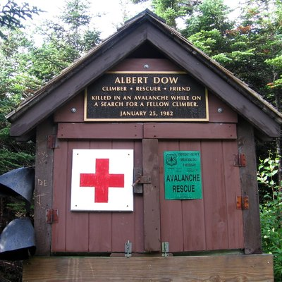 First Aid cache on Mt Washington. New Hampshire. Appalachian Trail.