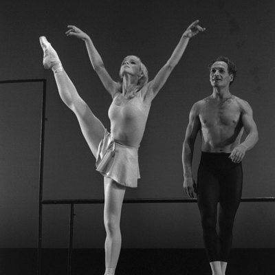 Galina and Valery Panov in the show - Afternoon of a Faun - performed during the Israel Festival at the Mann Auditorium in Tel Aviv.