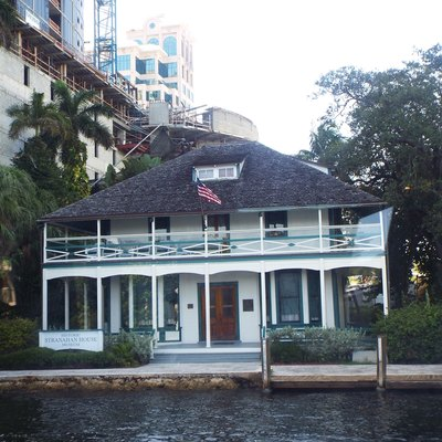 The Stranahan House was built in 1901 and is located at 335 Southeast 6th Avenue in Fort Lauderdale, Florida. The lower floor of the house once served as a trading post and the upper floor as a community hall. The house also served as a general store and a bank. The owner of the house, Frank Stranahan, committed suicide by drowning in the New River in front of his home. The house was listed in the National Register of Historic Places on October 2, 1973, reference #73000569.