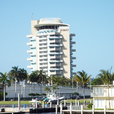 The Hyatt Regency Hotel was built in 1957 and is located 2301 SE 17th Street in Fort Lauderdale, Florida. The hotel was designed by Richard F. Humble.