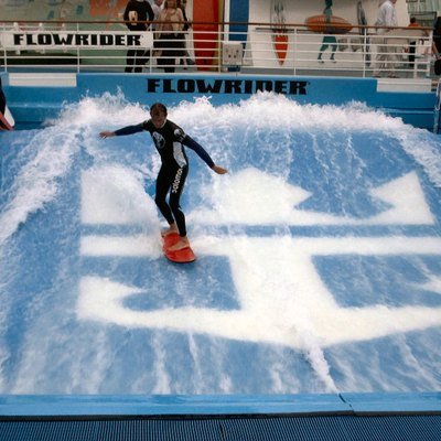The Flowrider aboard the Royal Caribbean cruiseliner Freedom of the Seas