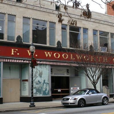 Former F. W. Woolworth Co. store in Greensboro, North Carolina, the site of a now-famous