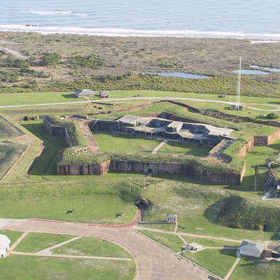 Aerial photo of Fort Morgan, Alabama