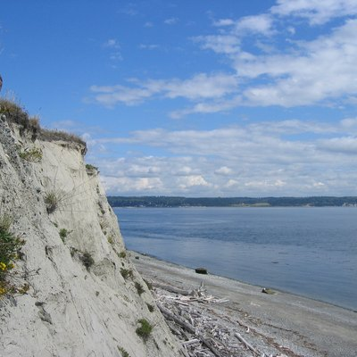 Cliff near Fort Casey on Whidbey Island, Washinton, USA.