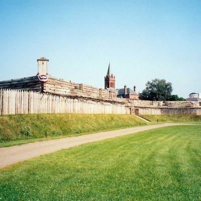 Interior of Fort Stanwix, Rome, New York, USA