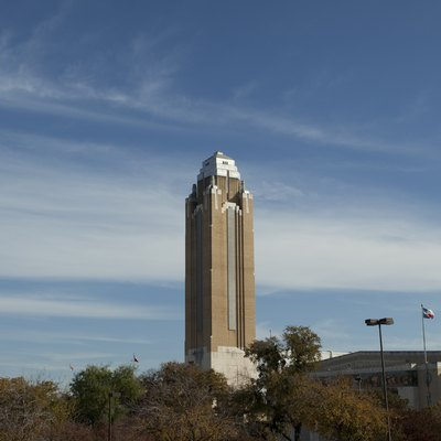 Pioneer Tower at Will Rogers Memorial Center, Fort Worth, Texas.
