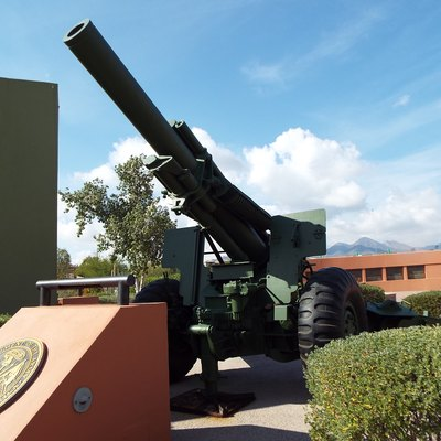 A Howitzer located in the Veterans Memorial in Fountain Park of the town of Fountain Hills.