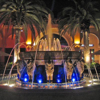 A fountain at Irvine Spectrum Center in Irvine, California.