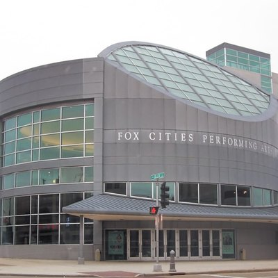 The Fox Cities Performing Arts Center (PAC) in downtown Appleton, Wisconsin, USA. Cropped from the original.
