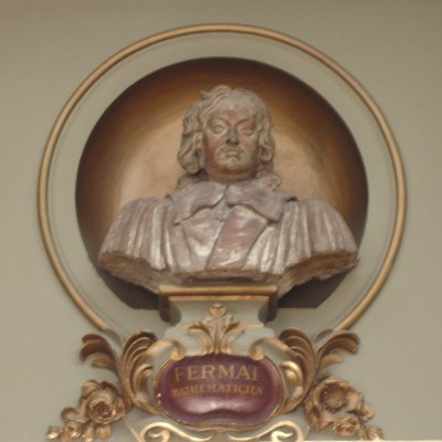 Bust of mathematician Pierre de Fermat in the Capitole de Toulouse