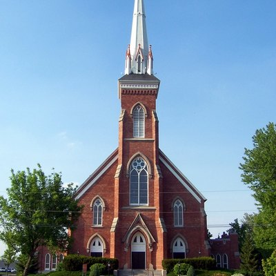 St. Lorenz Lutheran Church in Frankenmuth, Michigan, USA.