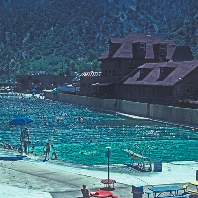 Glenwood Hot Springs, Home Of The World'S Largest Hot Springs Pool. 600' Long Swimming Pool Built In 1891 By British Investment Company Anchored The Resort